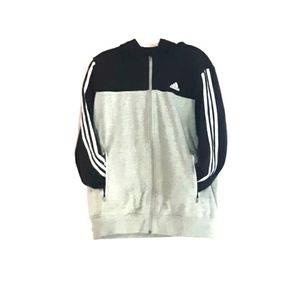 Adidas Black & Gray Heavy Duty Hoodie For Climate